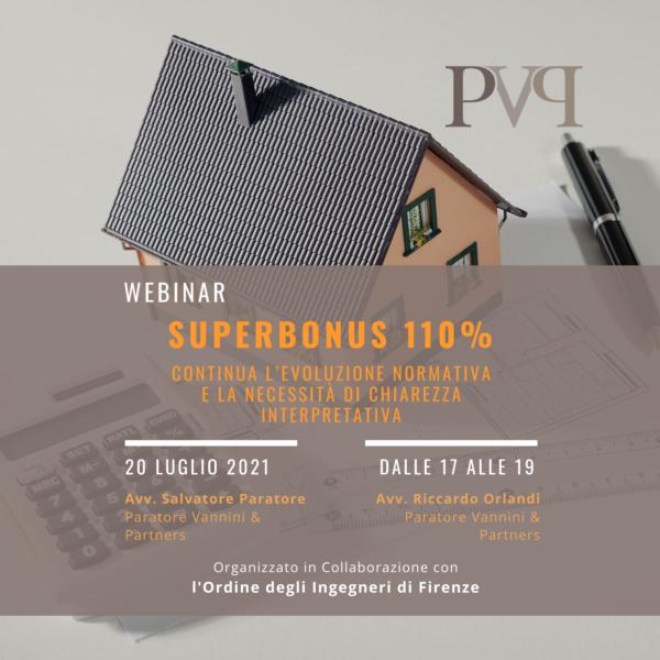 Webinar Superbonus 110% Luglio 2021
